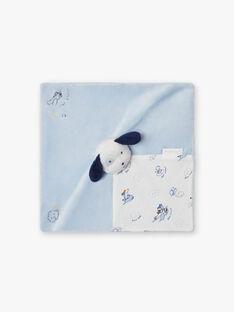 Peluche chien ciel et blanc naissance garçon BOYAN / 21H0AG41JOU219