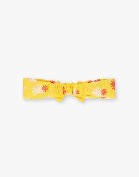 Bandeau jaune imprimé fleuri bébé fille TYGESSY / 20E4BFZ1BAN102