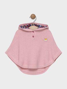 Poncho rose à capuche bébé fille SAELENE / 19H1BF41PON301