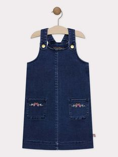 Chasuble en denim stretch fille SILOZETTE / 19H2PF41CHSP274
