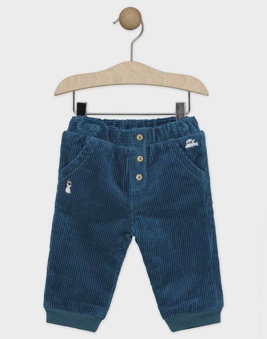 Pantalon bébé garçon vert bleu  SATERANCE / 19H1BGN2PAN210