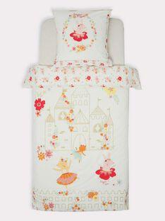 Parure de lit écrue princesse imprimé fleuri TIPARURCHA / 20EZEN72PLC000