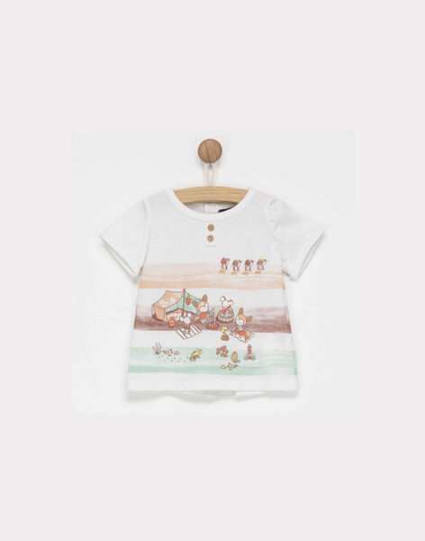 Tee shirt manches courtes blanc NAROMAN / 18E1BGL1TMC000