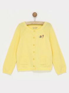 Cardigan jaune  RADOISETTE / 19E2PF61CARB105
