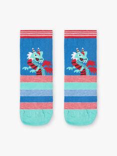 Chaussettes coloris bleu et rouge dragon  ZAFRIAGE / 21E4PGJ1SOQG621