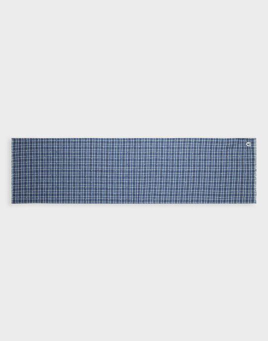 Foulard à carreaux bleu petit garçon TEFOULAGE / 20E4PGD1FOUC203