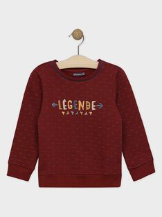 SWEAT motif flèches coloris bordeaux SENOUAGE / 19H3PGI1SWE503