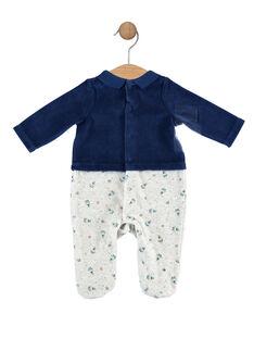 Grenouillere bleu nuit bébé garçon SEROBIN / 19H5BGK4GRE717