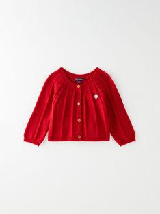 Cardigan rouge en tricot lurex fantaisie VAILANA / 20H1BFM1CARF515