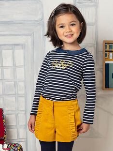 Short jaune enfant fille BIKIETTE / 21H2PF51SHO109
