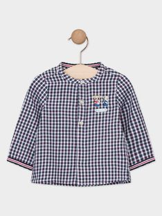 Chemise en toile à petits carreaux bébé garçon  TACHARLES / 20E1BGC1CHM070