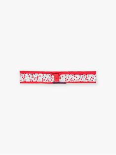 Bandeau rouge à imprimé fleuri bébé fille BAAMITIE / 21H4BF11BAN001