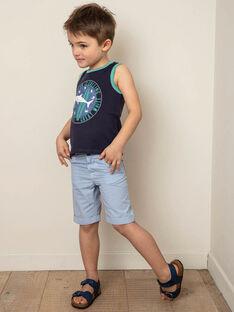Bermuda bleu clair à carreaux enfant garçon ZUZTAGE1 / 21E3PGL3BER001
