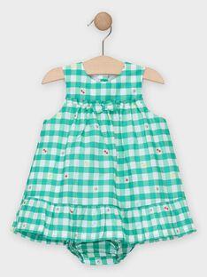 Chasuble à carreaux verte bébé fille  TAMAUD / 20E1BFH1CHS600
