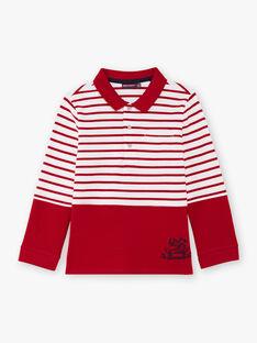 Polo manches longues à rayures enfant garçon BACLOAGE / 21H3PG11POL001