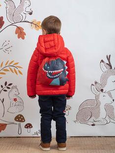 Doudoune matelassée orange et sac dinosaure enfant garçon BEJIAGE2 / 21H3PGG4DTV402