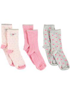Lot de 3 paires de chaussettes petit enfant fille  VESOCETTE / 20H4PFC1LC3D310
