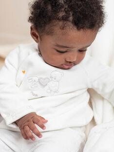 Veste et legging blanc naissance fille BOTHEO / 21H0NM41ENS001