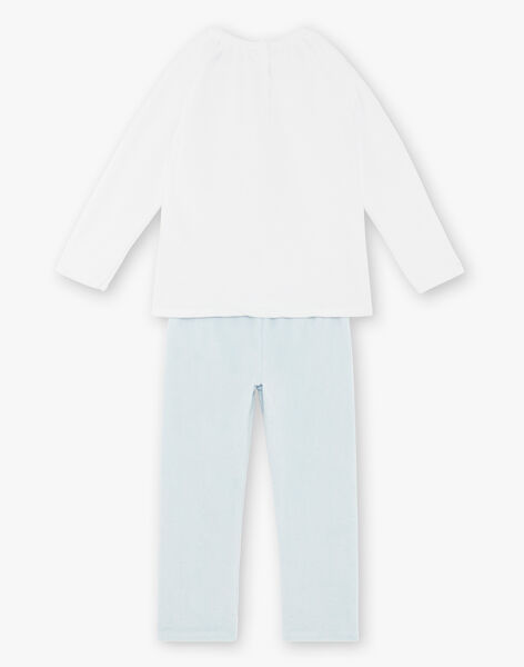 Pyjama écru et bleu en velours  ZEPRINETTE / 21E5PF13PYJ001