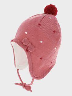 Bonnet rose  bébé fille SANNE / 19H4BFE1BON307