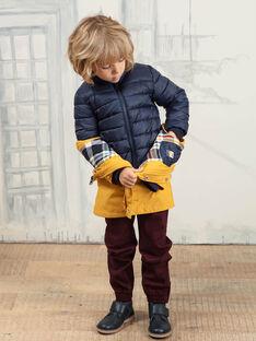 Imperméable jaune impérial avec doudoune détachable enfant garçon BARISTAGE / 21H3PGC3IMPB114
