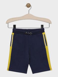 BAS DE JOGGING à capuche coloris bleu glacier et jaune moutarde SACHOUAGE-1 / 19H3PGD1BER219