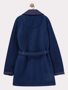 Robe de chambre bleu nuit en fausse fourrure petit garçon  SEROBAGE / 19H5PGK1RDC201