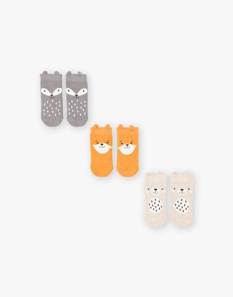 Lot de 3 paires de chaussettes animaux bébé garçon BROBENNIE / 21H4BGB3LC3J900
