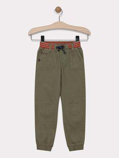 Pantalon kaki en canvas garçon SATIAGE / 19H3PG31PAN628