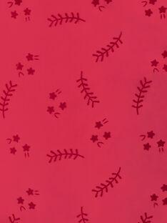 Parka à capuche rose et fausse fourrure VEPARKETTE / 20H2PFI1PAR304