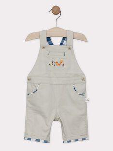 Salopette courte bébé garçon couleur lin SABILL / 19H1BG21SACA016