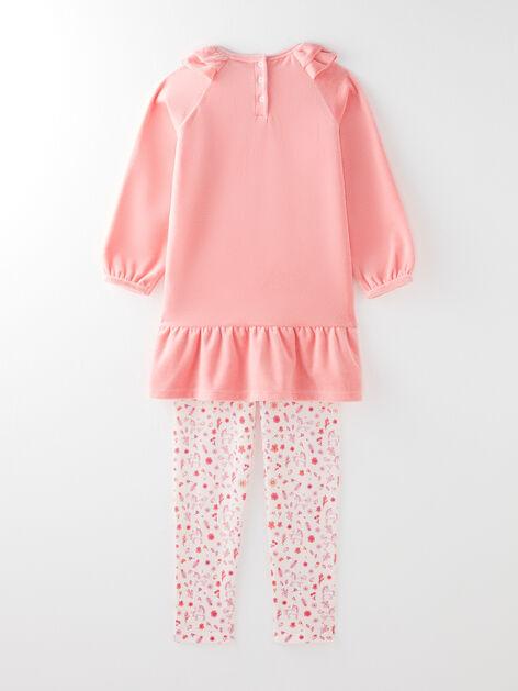 NEUF Pyjama Set branches Pyjama enfants Fille Sous-fifres Pink 98 104 116 128 #62