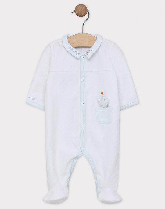 Dors bien en velours dévorée bébé garçon  SYANDY / 19H0NG12GRE000