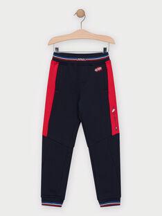 Pantalon molletonné bleu marine garçon  TAEPOLAGE / 20E3PGC2PAN070