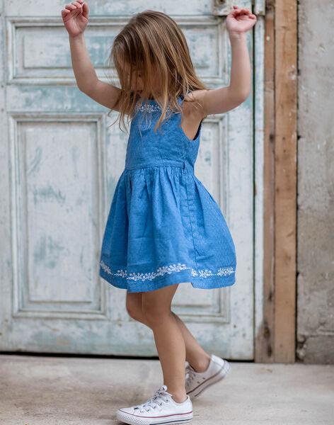 Robe évasée réversible imprimé fleuri enfant fille ZUREVETTE / 21E2PFT1CHSC208