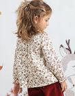 Chemisier manches longues imprimé fleuri enfant fille BUVIETTE / 21H2PFJ1CHE001