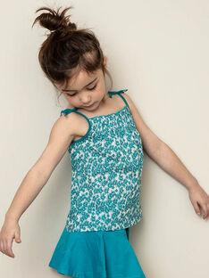 Débardeur turquoise enfant fille ZLYNETTE2 / 21E2PFL1DEB714