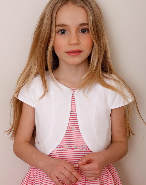 Cardigan boléro blanc enfant fille TYDOETTE / 20E2PFJ3CAR000