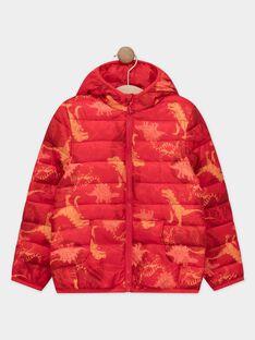 Doudoune manches longues rouge imprimée garçon vendue dans un pochon  TUNAGE / 20E3PGT1DTV050