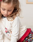 T-shirt manches longues écru à imprimé fantaisie enfant fille BICHETTE / 21H2PF53TML001