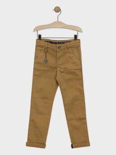 Pantalon marron avec porte-clés garçon SEJILAGE / 19H3PGI2PANI815