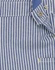 Salopette bleu marine à rayures motifs fantaisie bébé garçon RAEVAN / 19E1BGC2SALC202