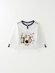 Tee-shirt blanc sequins réversibles  VAFLAVIEN / 20H1BG61TML001