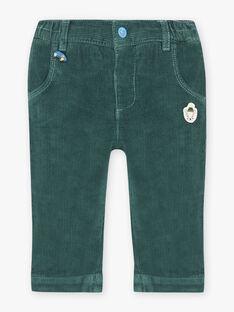Pantalon vert sapin bébé garçon BAPETER / 21H1BGM1PAN060