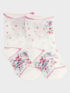 Chaussettes ecru bébé fille SANTA / 19H4BFE1SOQ001