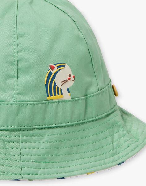 Chapeau en twill vert bébé garçon TARYAD / 20E4BGQ1CHA611