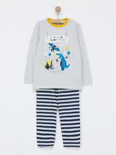 Ensemble pyjama gris chiné NEFDAGE / 18E5PG93PYJ943