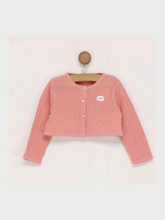 Cardigan rose  RABETINA / 19E1BF22CAR413
