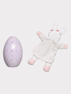 Œuf de Pâques rose en métal et peluche bébé fille THEA / 20E4BFU1JOU001