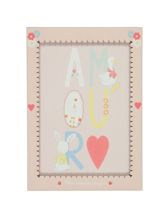 "Affiche ""Amour"" rose ROAMOURAFF / 19EZNAX1AFF301"